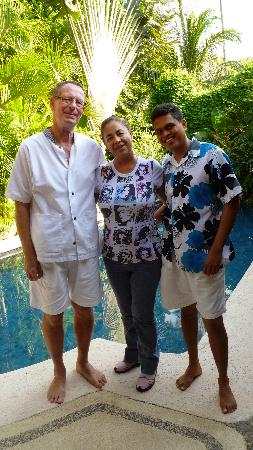 Casa Candiles Inn: The Perfect Hosts, Roberto and Miguel-I'm the guy in the middle without a tan
