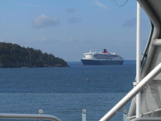Bar Harbor Whale Watch Company: the Queen Mary 2 from afar
