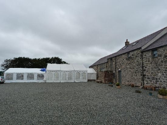 The Outbuildings: marquee for wedding