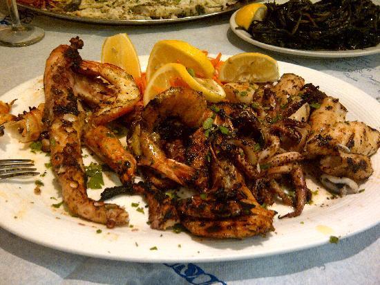 Stamna Greek Taverna: Seafood Platter