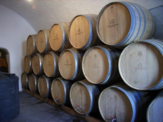 SAFOWI Santorini Food and Wine Tours: Argyros estate wine storage