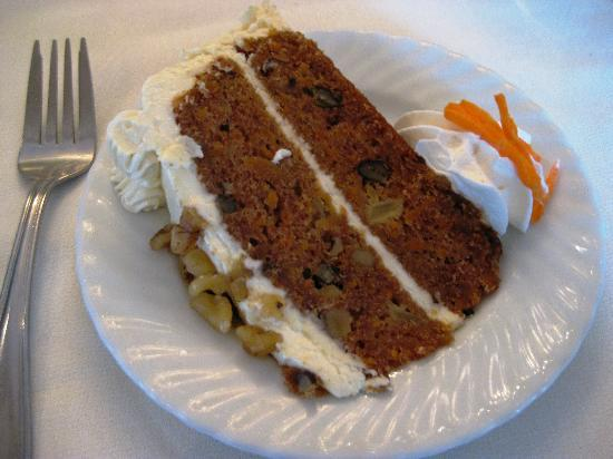 The Electric City Trolley Station and Museum : carrot cake