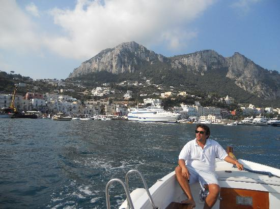 Gianni's Boat: Gianni and the Capri Harbor