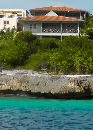 Caribbean Club Bonaire: our cottage from the boat we rented