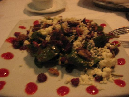 Ruth's Chris Steak House : Spinach Salad with Feta, Cranberries etc.