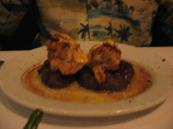 Ruth's Chris Steak House: Twin Filets with Shrimp Stuffed with Crab