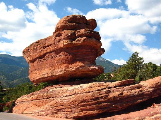 Balanced Rock Obrazok Garden Of The Gods Colorado Springs