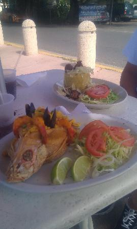 Costa Mia: my plate stuffed red fish