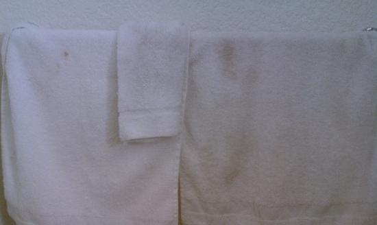 Motel 6 Albuquerque - Midtown: Grimy towels