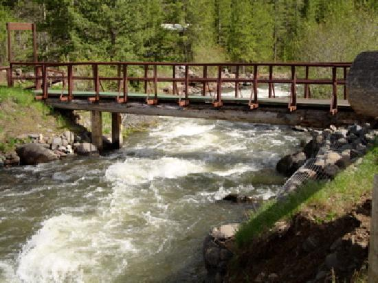 Absaroka Mountain Lodge: This is the bridge going over the creek to the horse corral.