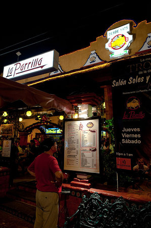 La Parrilla: Entrance to the restaurant