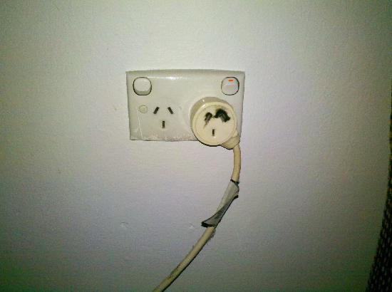 Blakehurst Motor Inn: Unsafe power point