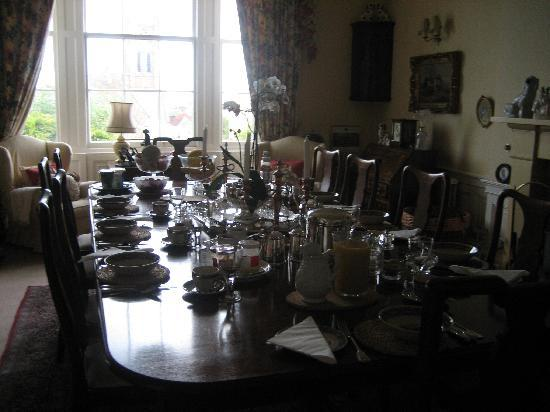 "The Glebe House: Breakfast table ""Wow"""