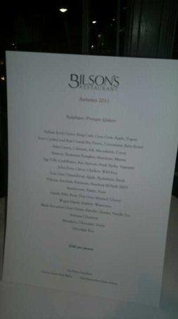 bilson menu シドニー the fax barの写真 トリップアドバイザー
