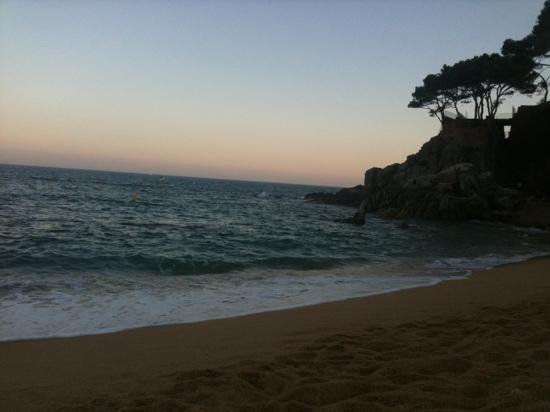 Camping Cala Gogo: the site beach at sundown