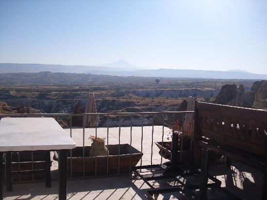 Takaev Cave Hotel & Guest House: View from breakfast area.