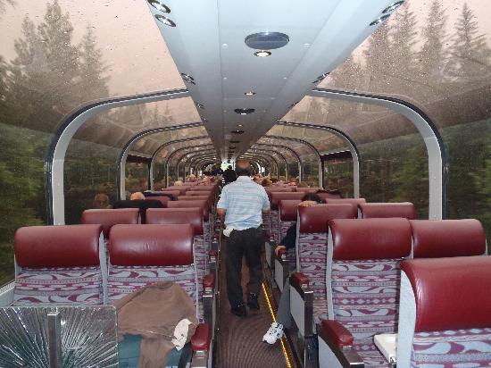 Inside The Bubble Train Picture Of Alaska Railroad