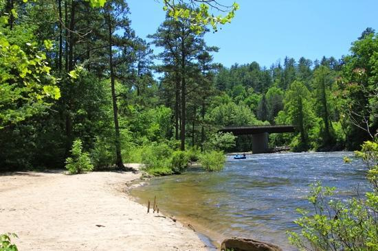 Wildwater Rafting - Chattooga: Chatooga River at Hwy 76 Bridge