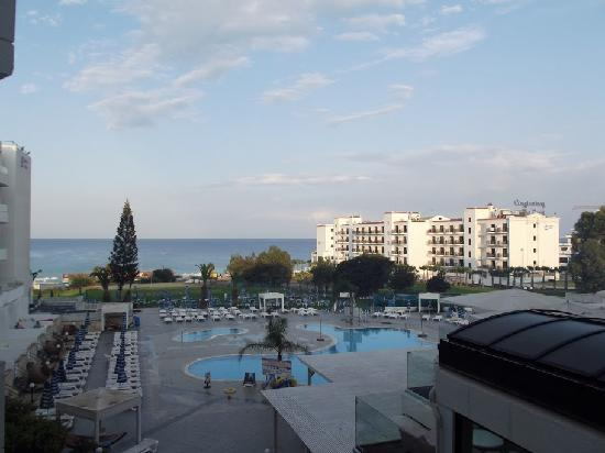 Odessa Beach Hotel: View of the sea from the hotel's corridor (or from a room with sea view))
