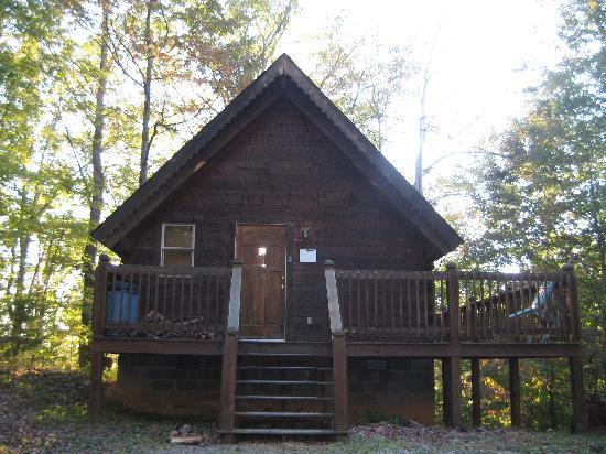 Whisperwood Farm B&B, Creekwalk Inn and Honeymoon Cabins: The Mountain Mint cabin.