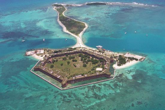 Dry Tortugas National Park, FL: Aerial View of the fort
