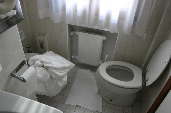 Hotel Royal San Marco : Ancho total del baño con la puerta cerrada