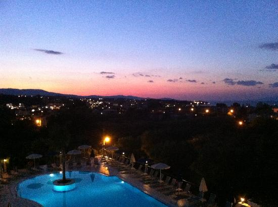 Zante Star: Pool view at sunset