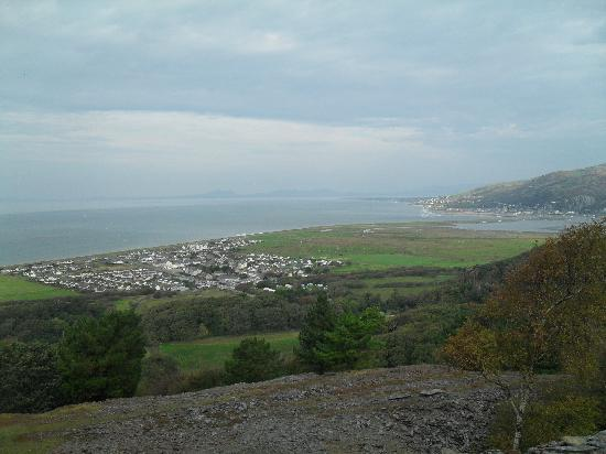 Einion House: looking down over fairbourne and the estuary