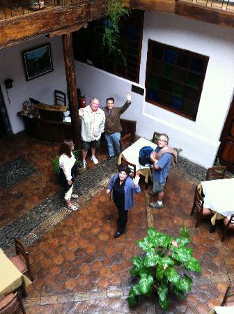 Casa Ordonez: Beautiful Glass Covered Eating Area