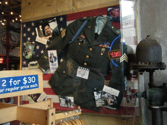 Lt Dan's uniform - Picture of Bubba Gump Shrimp Co , New Orleans