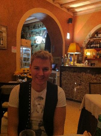 OSTERIA ALLA CONCA: Jordan at the restaurant