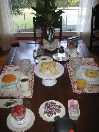 Moore Farm House B&B: Breakfast (souffle)