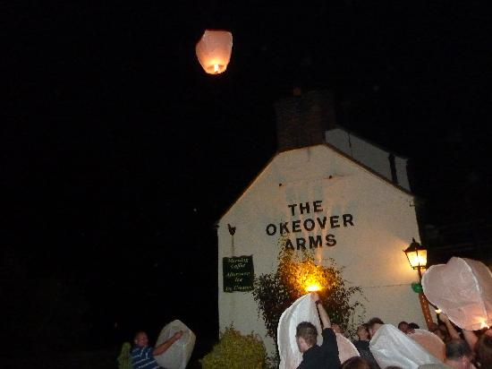 The Okeover Arms: Chinese lantern time