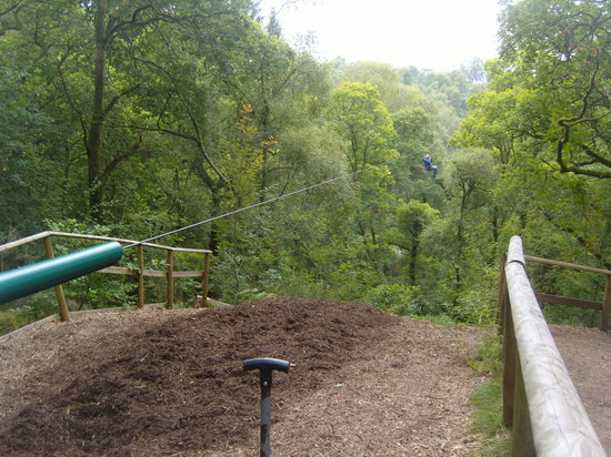 Go Ape Aberfoyle: The end of the Zip Line