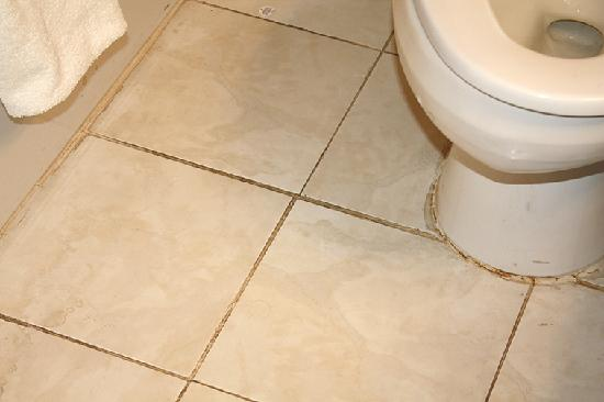 Best Western Kilmarnock Inn : Icky, filthy tile grout in bathroom