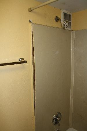 America's Best Inn Beaufort: shower wall