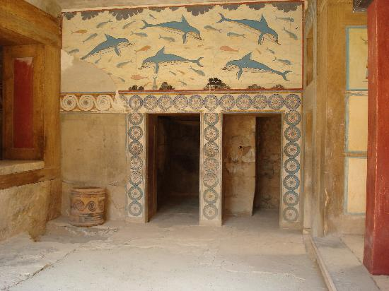 The Palace Of Knossos: Dolphins Fresco In Queens Bedroom