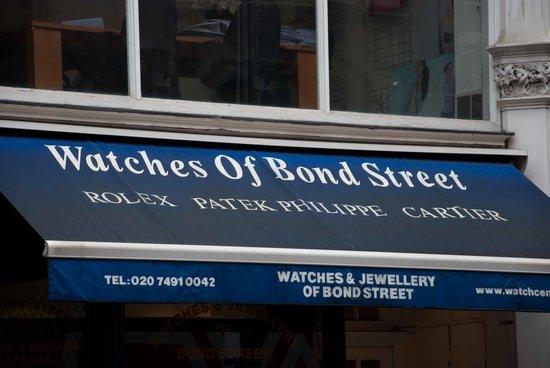 Exclusive Bond Street shops