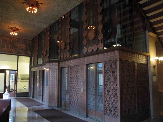 Guaranty / Prudential Building: Elevators with incredible iron work - all restored