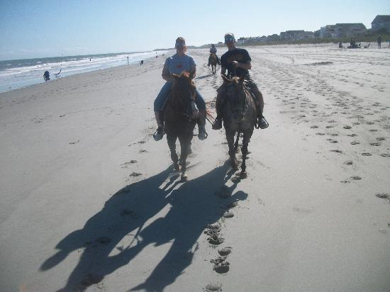 Horseback Riding Of Myrtle Beach : On the beach together