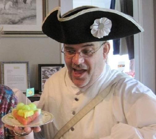 The Inn of the Patriots B & B: Chef Marti and one of his breakfast creations