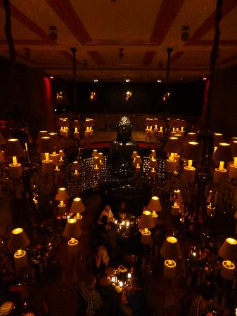 Buddha-Bar Hotel Prague : aerial view of the restaurant