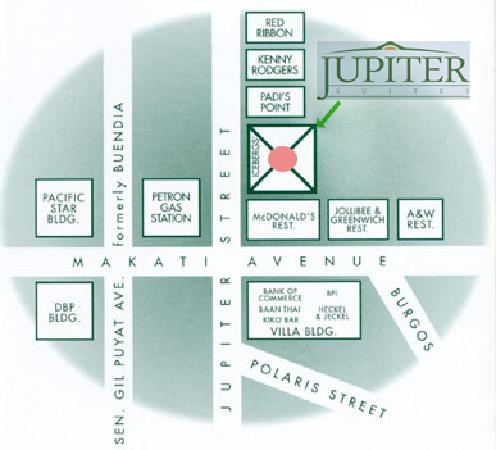 Jupiter Suites: Location Map
