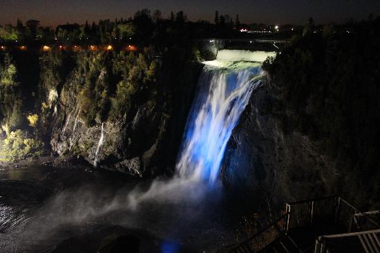 Falls At Night Picture Of Parc De La Chute Montmorency Quebec City Tripadvisor