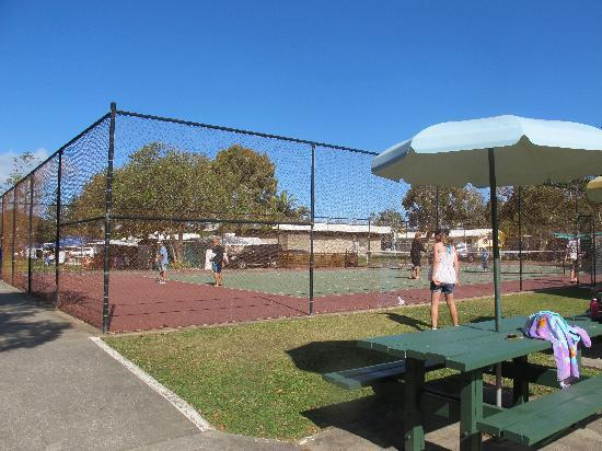 Dicky Beach Family Holiday Park: tennis courts