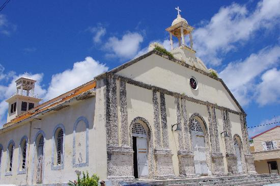 Marie-Galante, Guadeloupe: Church in Capesterre