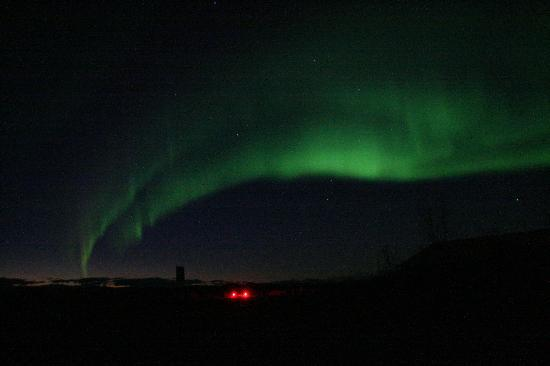 Bettles Lodge: aurora borealis