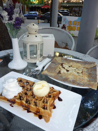 Crepanini : Crêpe Nutella-Bananes et Gaufre