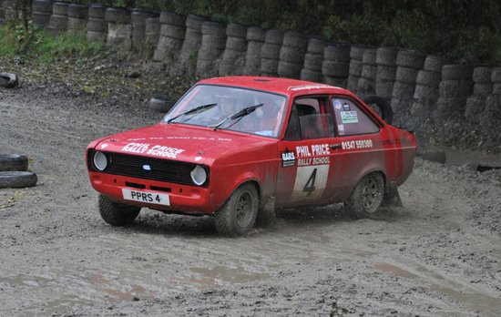 Phil Price Rally School: Me in one of the Escorts
