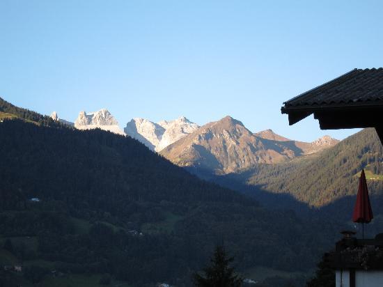 Schruns, النمسا: Sonnenaufgang, Blick Richtung Drei Türme